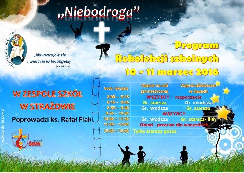 Program rekolekcji szkolnych 2016