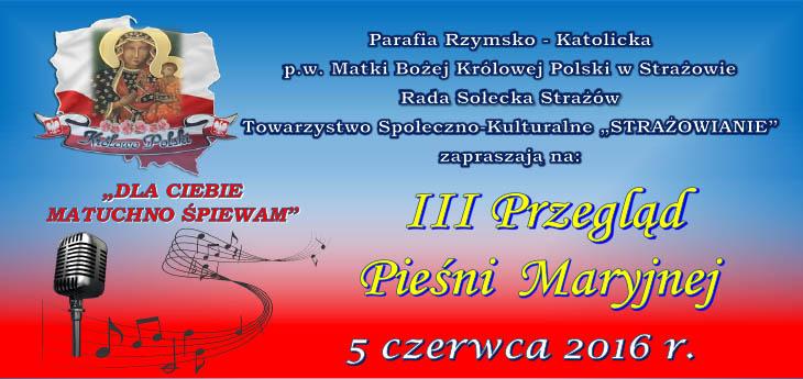 plakat III przeglad maryjny2016